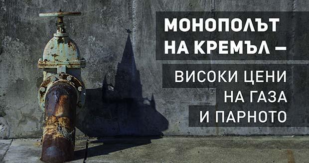 Монополът на Кремъл означава високи цени на газа и парното