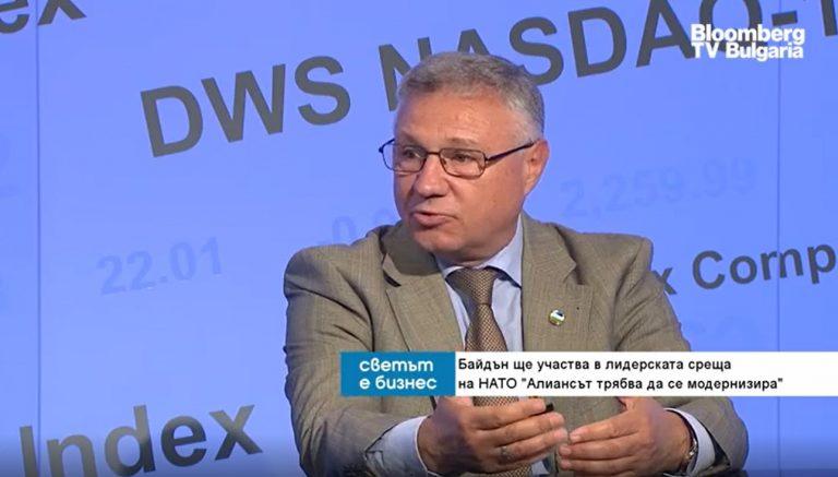 Велизар Шаламанов пред Bloomberg TV